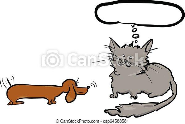 chien, chat - csp64588581