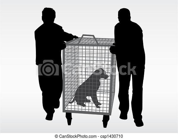 chien, gants baseball - csp1430710