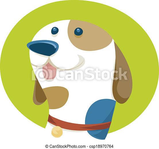 chien, heureux - csp18970764