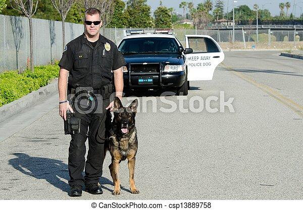 chien, police - csp13889758