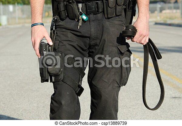 chien, police - csp13889739