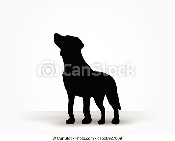 chien, silhouette - csp28927809
