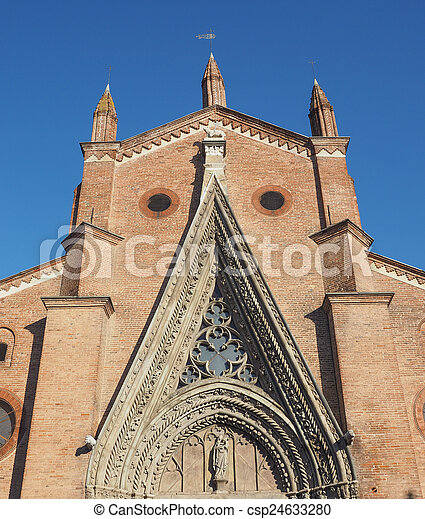 Chieri Cathedral, Italy - csp24633280