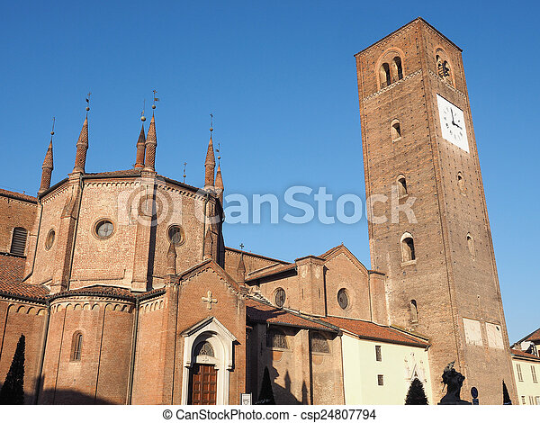 Chieri Cathedral, Italy - csp24807794