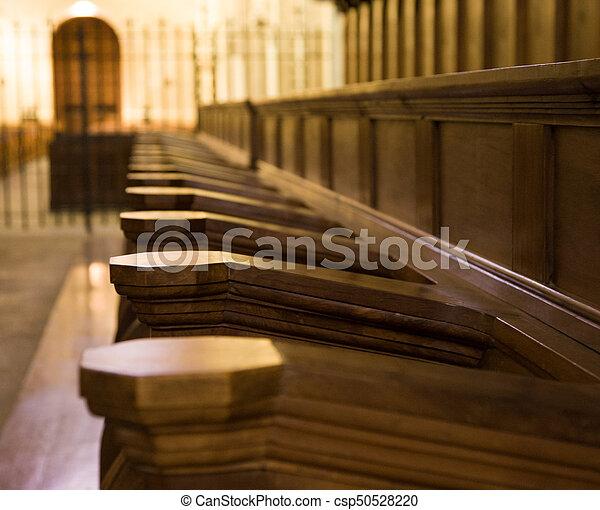 chiesa, pews - csp50528220