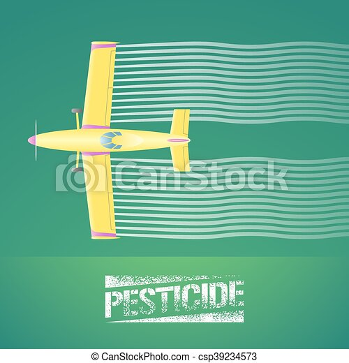 chiffon, vecteur, illustration, avion, récolte - csp39234573