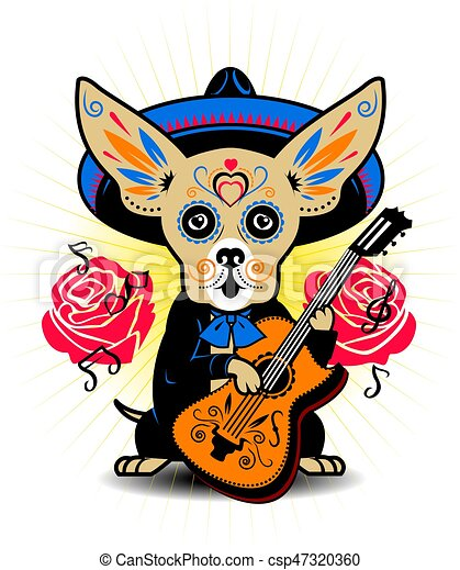 Chihuahua Musician - csp47320360
