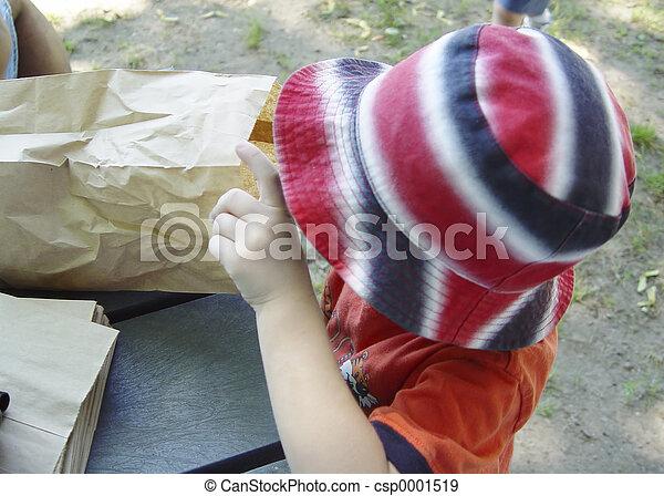 Child and Bag - csp0001519