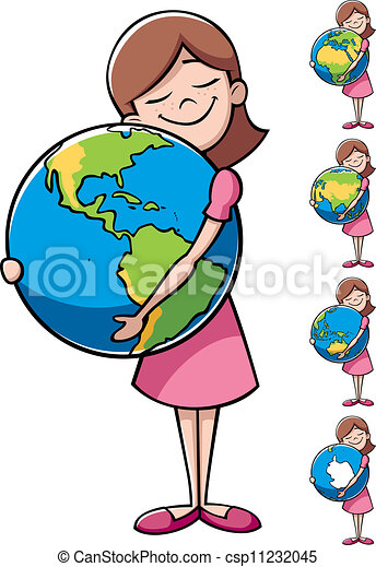 Child and Earth - csp11232045