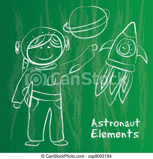 child astronaut - csp9093184