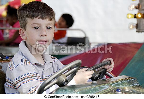 Child at Amusement Park - csp0298416