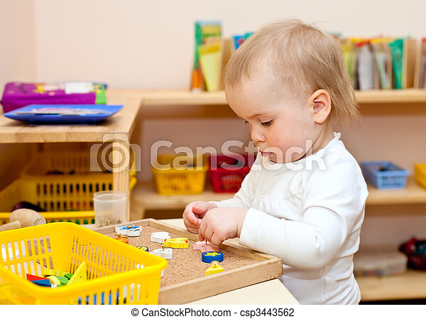 Child at nursery - csp3443562