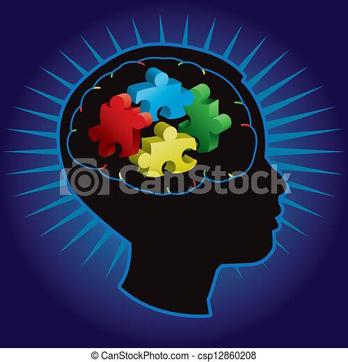 Child Autism Silhouette - csp12860208