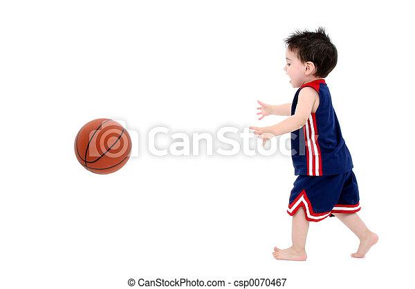 Child Boy Basketball - csp0070467