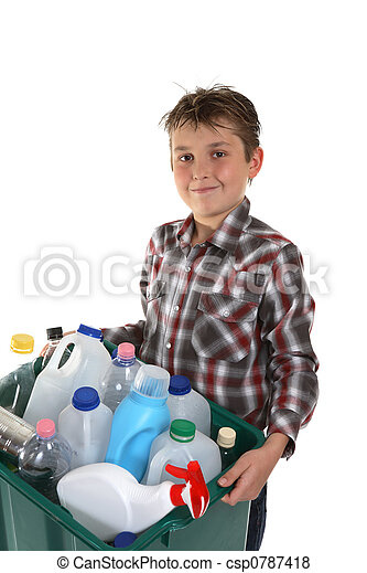 Child carrying recycling - csp0787418