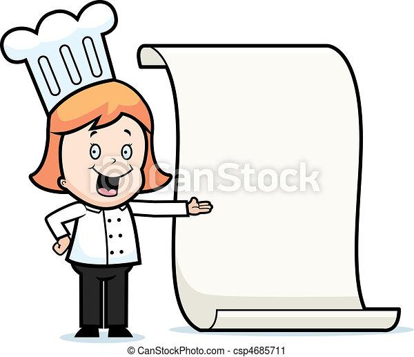 Child Chef Menu - csp4685711