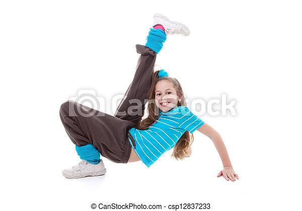 child dance exercising - csp12837233