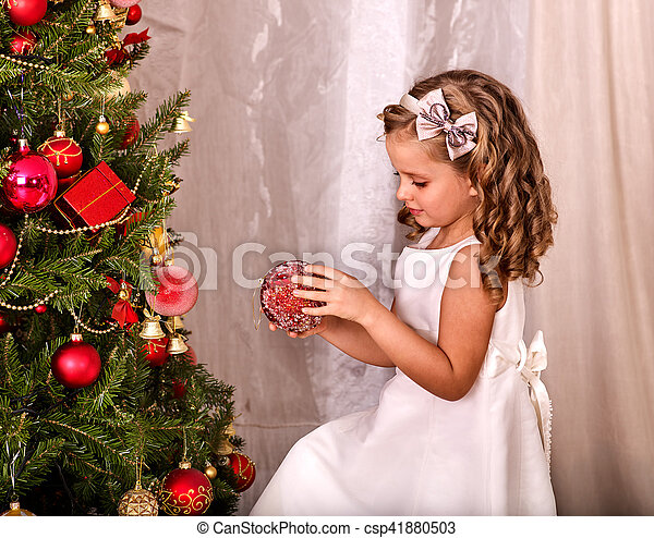 child decorate on christmas tree home alone csp41880503 - Home Alone White Christmas