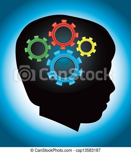 Child Development, Education, Autism, Silhouette - csp13583187