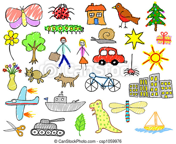Child drawings - csp1059976