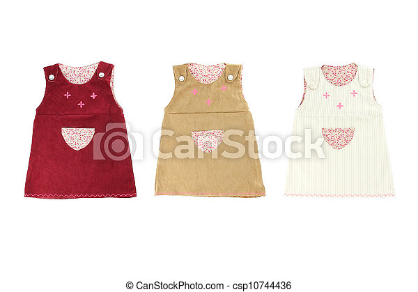Child dress three color on white background. - csp10744436