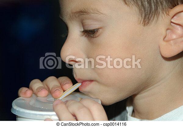 Child Drinking - csp0014116