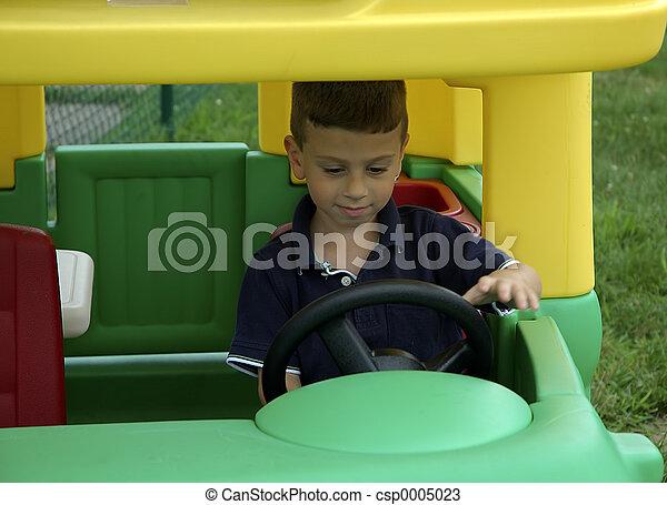 Child Driving - csp0005023