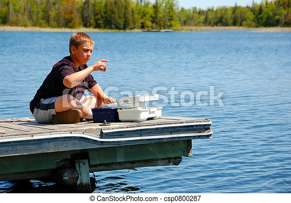 Child Fishing - csp0800287