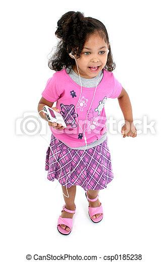 Child Girl Music - csp0185238