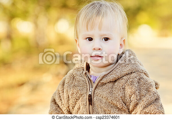 child in fall - csp23374601