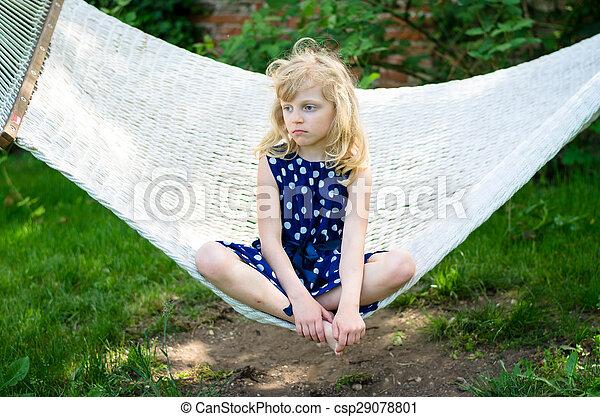 child in hammock - csp29078801