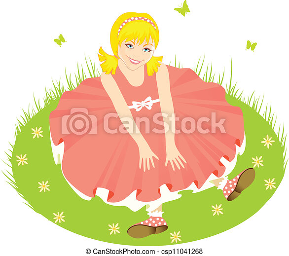Child in pink dress - csp11041268