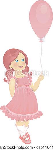 Child in pink dress - csp11041270