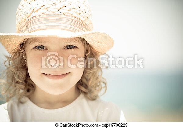 Child in summer - csp19700223