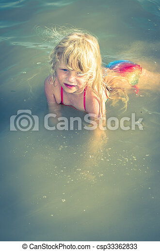 child in water - csp33362833