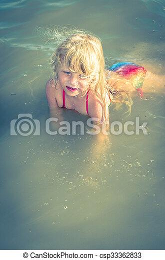 child in water - csp33362833
