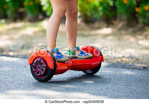 Child On Hover Board Kids Ride Scooter Child On Hover Board Kids