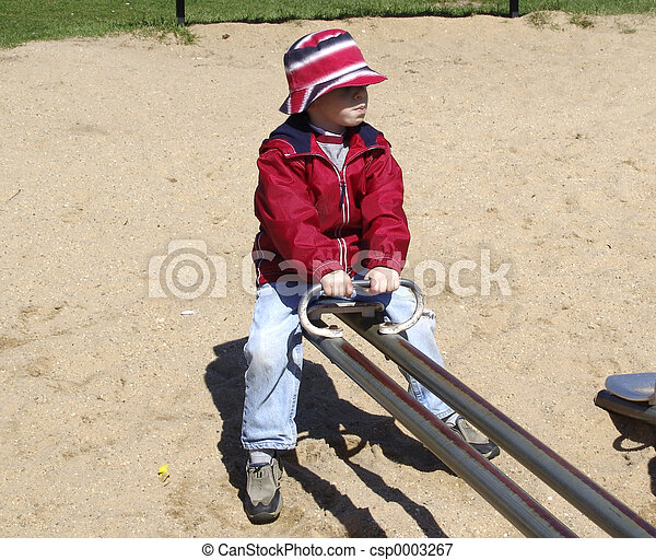 Child on See Saw - csp0003267