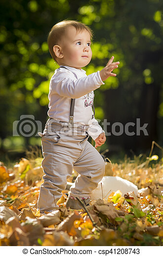 Child playing in park - csp41208743