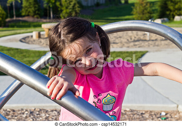 Child playing in the park - csp14532171