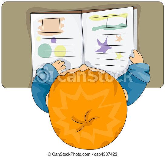 Child Reading - csp4307423