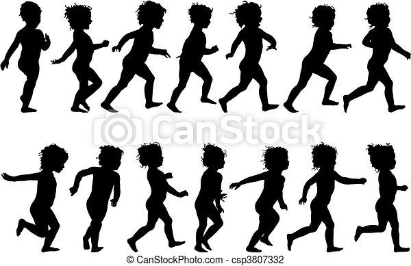 Child Running - csp3807332