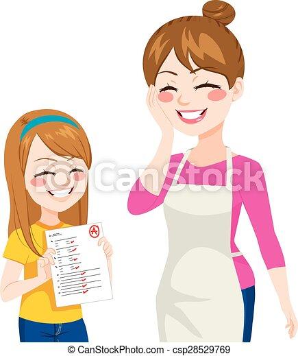 Child Showing Good Grades - csp28529769
