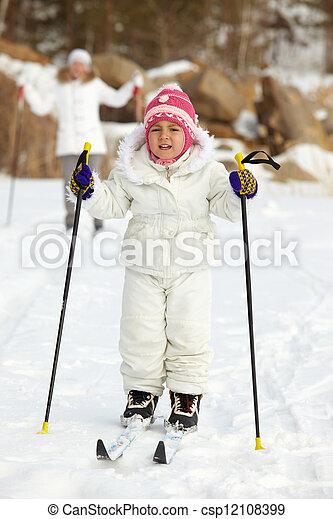 Child skiing - csp12108399