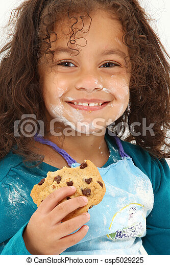 Child Smiling Cookie Flour - csp5029225