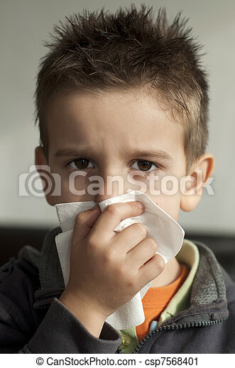 Child suffering from a cold - csp7568401