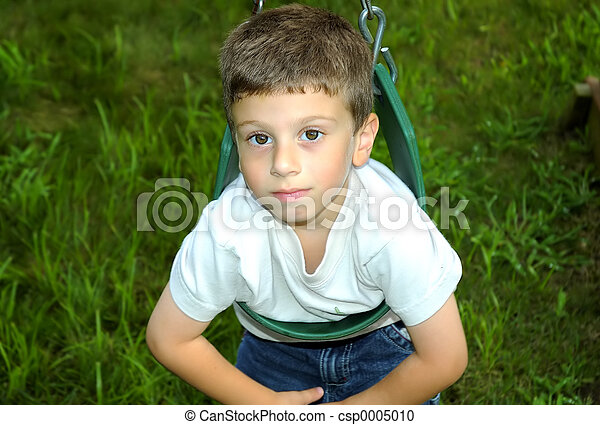 Child Swinging - csp0005010