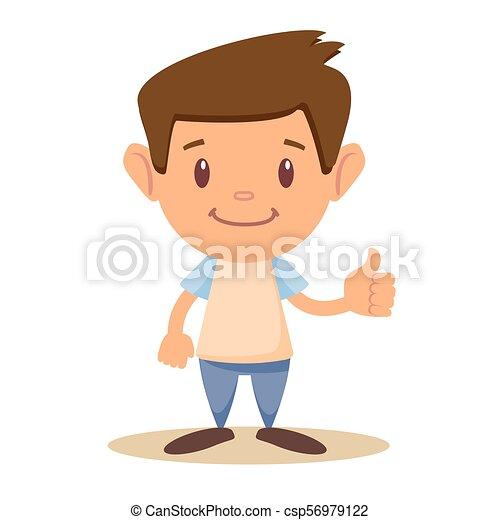 Child thumbs up, - csp56979122