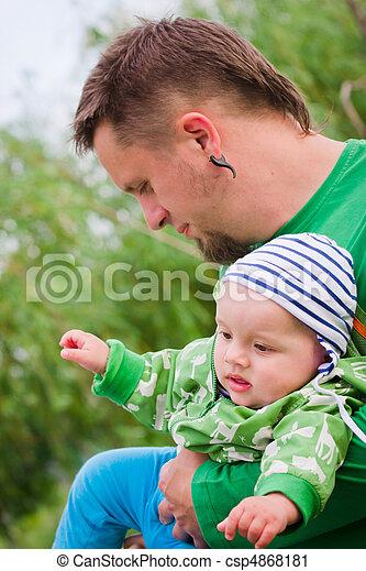 Child wiht father - csp4868181