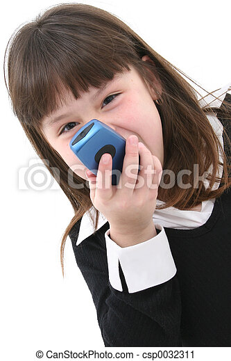 Child with Cellphone - csp0032311